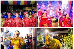 Khai ấn và cầu 'Quốc thái dân an' tại đền Trần Thanh Hóa