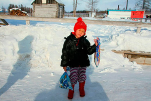 Bé 4 tuổi dũng cảm vượt sông băng giữa trời -24 độ C để cứu bà