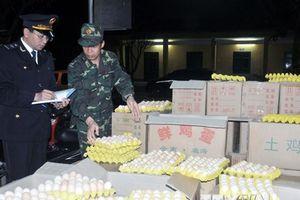 Quảng Ninh tiêu hủy gần 25.000 quả trứng gà nhập lậu từ Trung Quốc