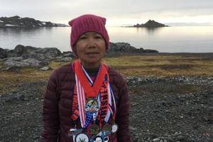 Gặp bà lão Mỹ gốc Việt chạy marathon 7 lục địa trong 7 ngày