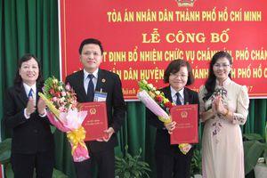 TAND TP.HCM: Công bố quyết định bổ nhiệm Chánh án, Phó Chánh án TAND cấp huyện