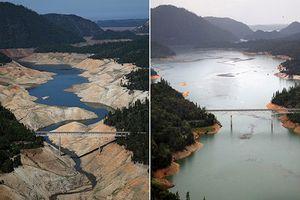Kinh ngạc California trước và sau hạn hán lịch sử