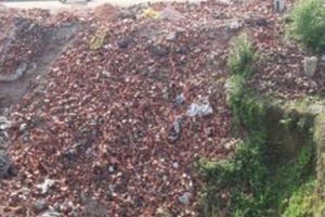 Công ty Gạch ngói 30.4 tự ý đổ gạch 'lấp' sông
