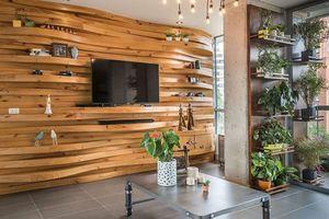Tường ốp gỗ mát mẻ, giảm nhiệt cho ngôi nhà mùa nóng