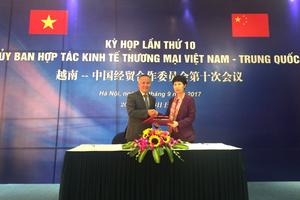Hợp tác kinh tế thương mại Việt – Trung phát triển mạnh theo hướng tích cực
