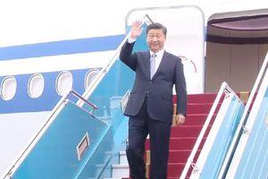 Lễ đón Chủ tịch Trung Quốc Tập Cận Bình tại sân bay Nội Bài
