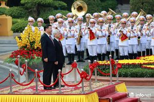 Lễ đón chính thức Chủ tịch nước CHND Trung Hoa tại Phủ Chủ tịch