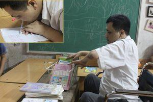 Chuyện xúc động về thầy giáo làng viết chữ bằng miệng đẹp ngỡ ngàng