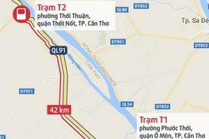 Bộ trưởng GTVT trả lời về việc di dời trạm BOT T2 QL91