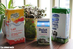 Trên tay 3 loại sữa tươi được nhiều mẹ tin dùng: Vinamilk, Dalat milk và Meadow Fresh