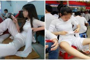 Dáng ngồi bá đạo của nữ sinh phá hoại vẻ đẹp áo dài