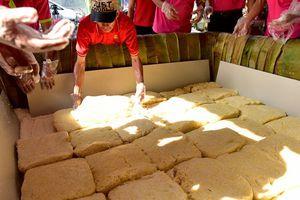 TP Sầm Sơn làm bánh giầy 3 tấn: 'Nặng hình thức, gây lãng phí'
