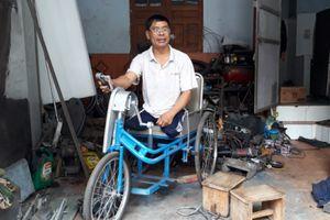 Thương binh cụt hai chân, chế xe cho người khuyết tật