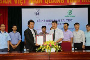 Lễ ký biên bản tài trợ giữa Trường Đại học Kinh tế - Kỹ thuật Công nghiệp và Công ty TNHH Công nghiệp Broad Bright Sakura Việt Nam