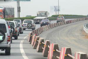 Bộ trưởng Nguyễn Văn Thể kiểm tra hiện trường Dự án nâng cấp cao tốc Pháp Vân - Cầu Giẽ