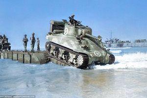 Ảnh binh sĩ Anh đổ bộ lên Sicily trong Thế chiến 2