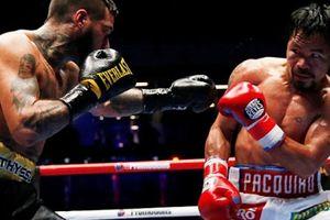 Huyền thoại Manny Pacquiao có trận thắng knock-out ở tuổi 39