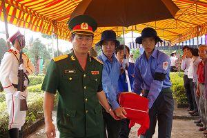 Lễ truy điệu và an táng hài cốt liệt sĩ quân tình nguyện, chuyên gia Việt Nam hy sinh tại Campuchia