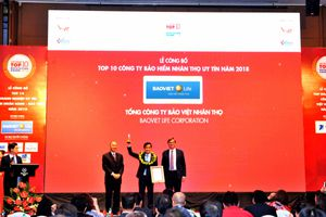Bảo Việt Nhân thọ đứng đầu Top 10 công ty bảo hiểm uy tín nhất