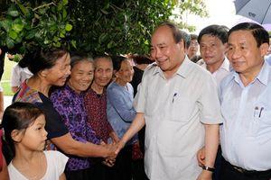 Thủ tướng ấn tượng với các khu vườn mẫu tại Hà Tĩnh