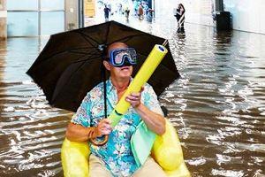 Nhà ga Thụy Điển ngập lụt, trở thành hồ bơi công cộng