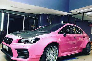 Subaru Impreza STI độ màu hồng hầm hố độc nhất Việt Nam