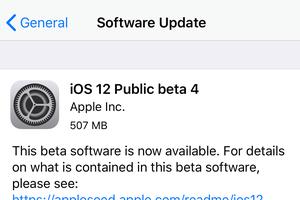 Apple phát hành bản cập nhật iOS 12 Public Beta 4