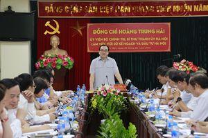 Bí thư Thành ủy Hoàng Trung Hải: Cần nghiên cứu cơ chế thu hút đầu tư để phát triển Thủ đô