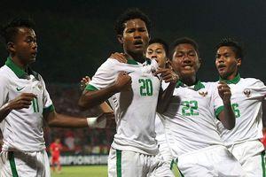 U16 Việt Nam thất bại trước Indonesia trong trận cầu có 2 thẻ đỏ