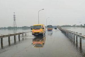 Tỉnh lộ 421B đoạn qua huyện Quốc Oai lưu thông trở lại sau nhiều ngày chia cắt