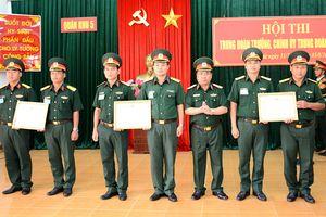 Quân khu 5 bế mạc Hội thi 'Trung đoàn trưởng, chính ủy trung đoàn bộ binh giỏi'