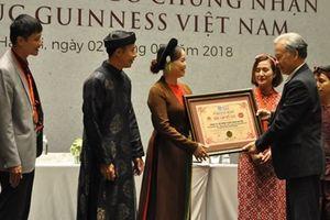 'Tinh hoa Bắc bộ' xác lập 2 kỷ lục Guiness Việt Nam