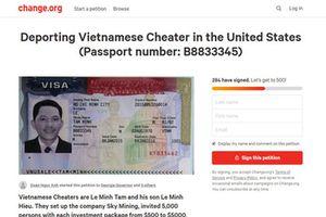 Nhà đầu tư kiến nghị Mỹ trục xuất ông Lê Minh Tâm Sky Mining về nước