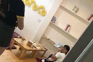 'Sốc': Cặp đôi ở Thái Nguyên ngang nhiên 'mây mưa' tại quán trà sữa bị nhân viên bắt tại trận