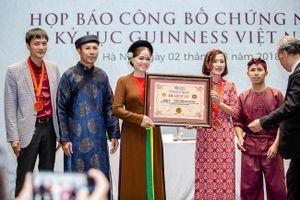 'Tinh hoa Bắc Bộ' được trao 2 kỷ lục Guinness Việt Nam