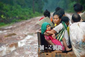 Bộ Quốc phòng hỗ trợ Lào 50.000 USD khắc phục hậu quả vỡ đập thủy điện