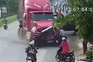 Khởi tố tài xế container chạy lấn làn, đâm 6 người thương vong