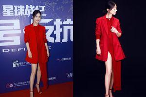 Ngôi sao 'Tuyệt đỉnh Kung Fu' bị chê vì diện váy 'bên mất bên còn'