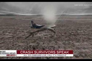 Khoảnh khắc lao xuống đất quay từ bên trong máy bay Mexico