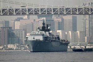 Tàu sân bay tấn công của Hải quân Anh đến Nhật Bản