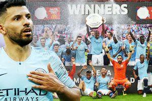 Aguero bừng sáng, Man City hạ Chelsea đoạt siêu cúp Anh