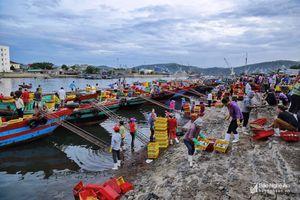 Cận cảnh một trong những bến cá sầm uất nhất Nghệ An