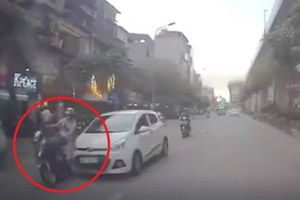 Xe 'điên' chạy tốc độ cao tông hàng loạt người từ phố Hoàng Cầu đến Hoàng Đạo Thúy