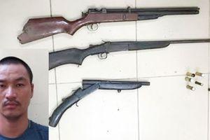 Khám xét đối tượng cầm đầu ổ trộm cắp, thu 3 súng tự chế