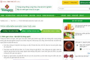 Công khai một loạt trang web vi phạm về quảng cáo thực phẩm chức năng