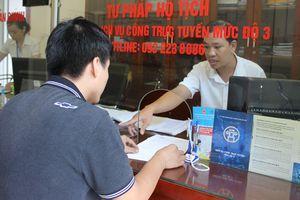 Triển khai dịch vụ công trực tuyến mức độ 4 về hộ tịch: Thuận lợi cho công dân