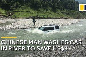 Đưa siêu xe xuống sông để rửa, 'đại gia' suýt mất mạng