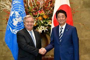 Lãnh đạo Nhật Bản, LHQ thảo luận về phi hạt nhân hóa Triều Tiên