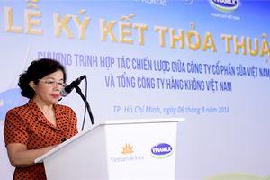 Vinamilk hợp tác chiến lược với Vietnam Airlines