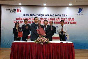 VNPT cung cấp dịch vụ viễn thông, công nghệ thông tin cho Maritime Bank